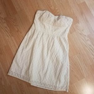 American Eagle white strapless dress